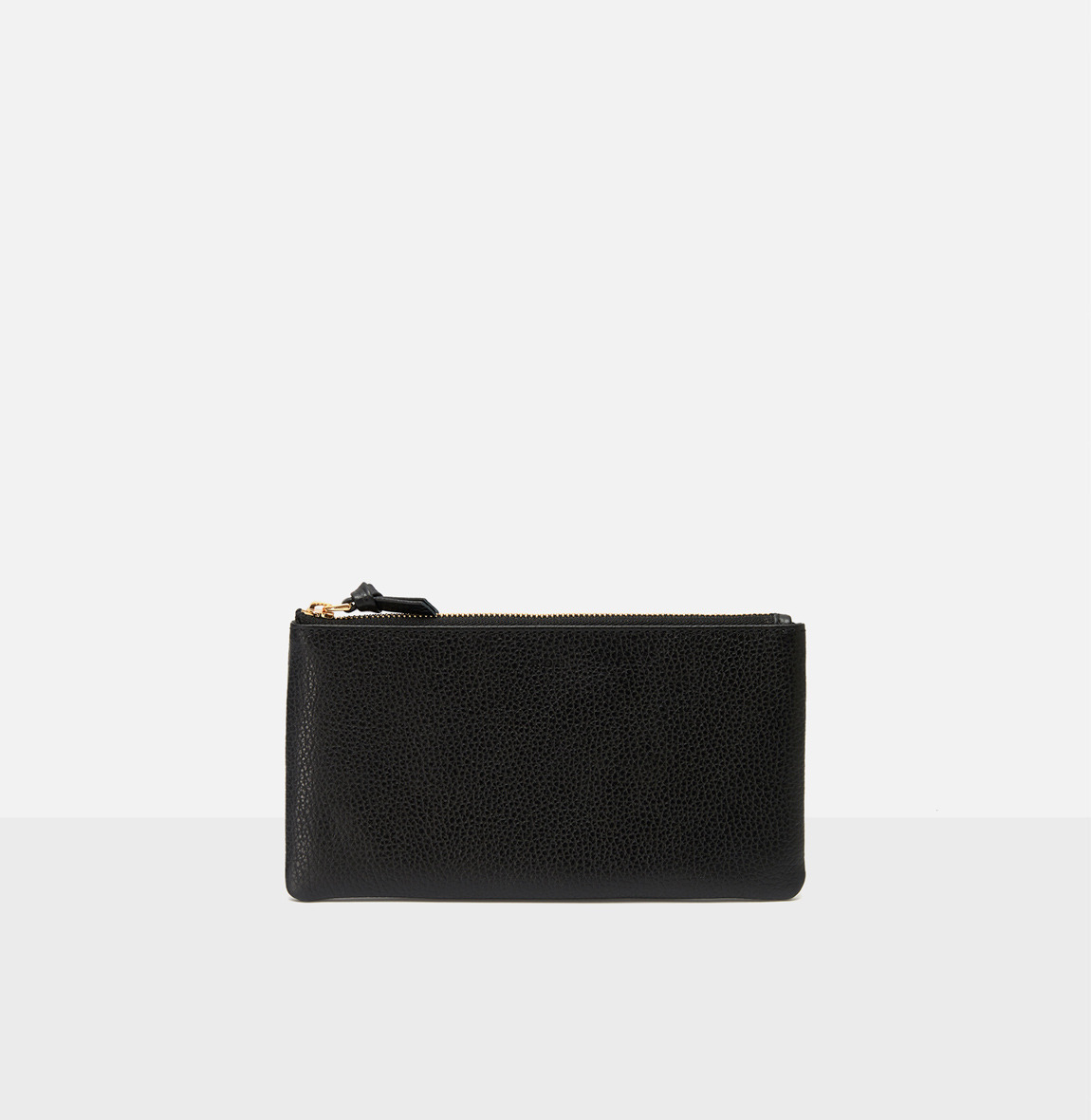 Square large zip wallet Black Ople