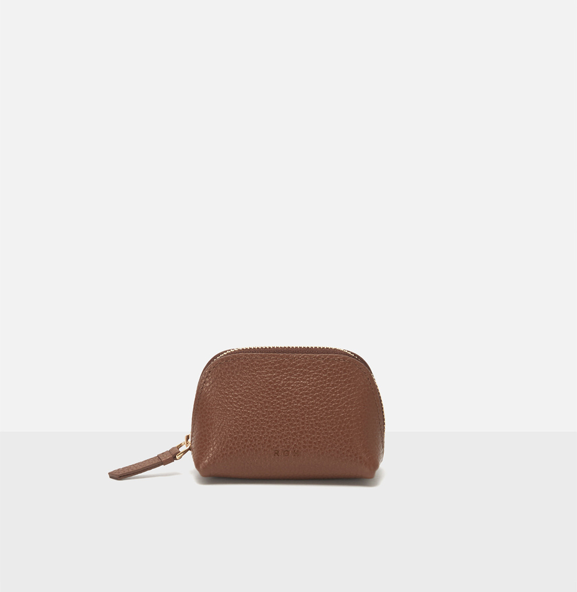 Aline small coin zip wallet Smoky Tan Ople