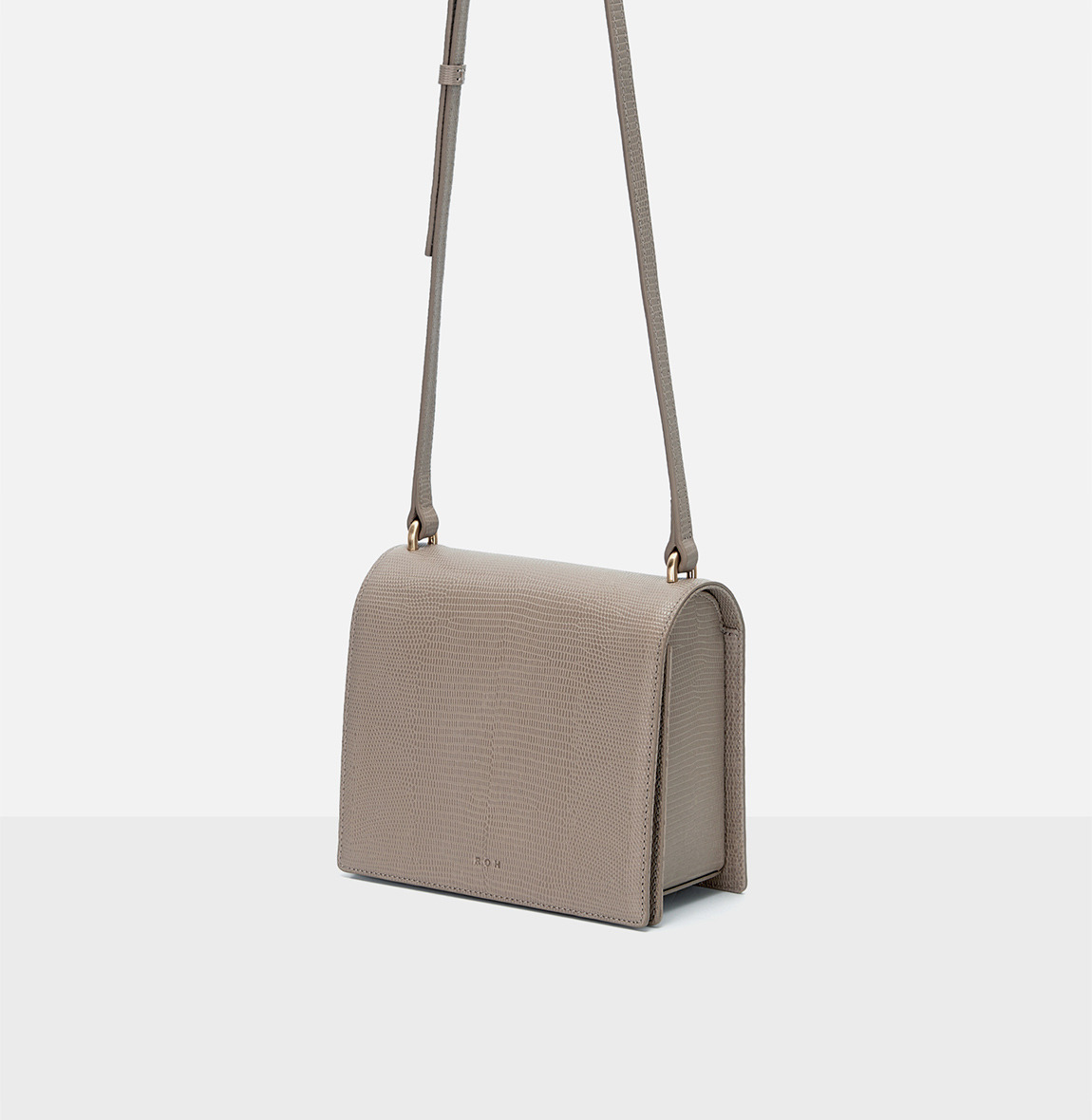 Caddy small shoulder bag Beige Lizard pattern