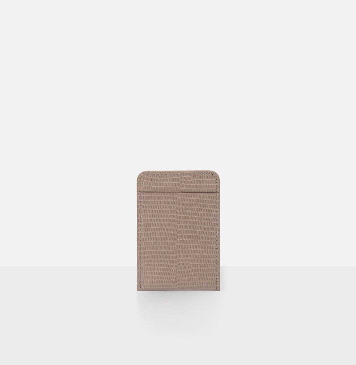 Basic card Holder Beige Lizard pattern