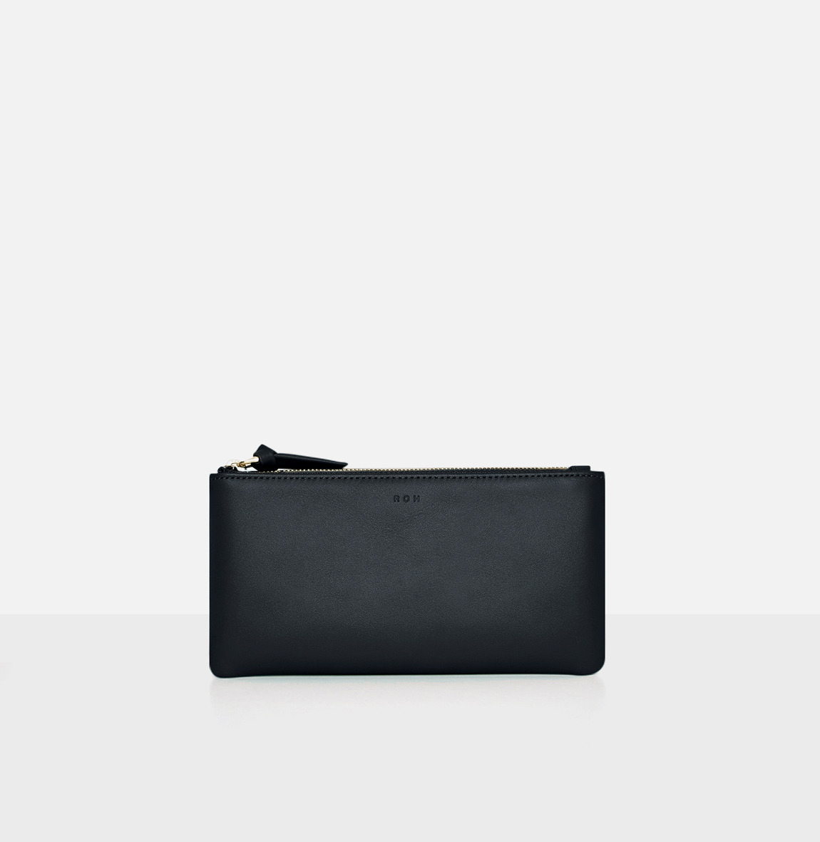 Square large zip wallet Viridian