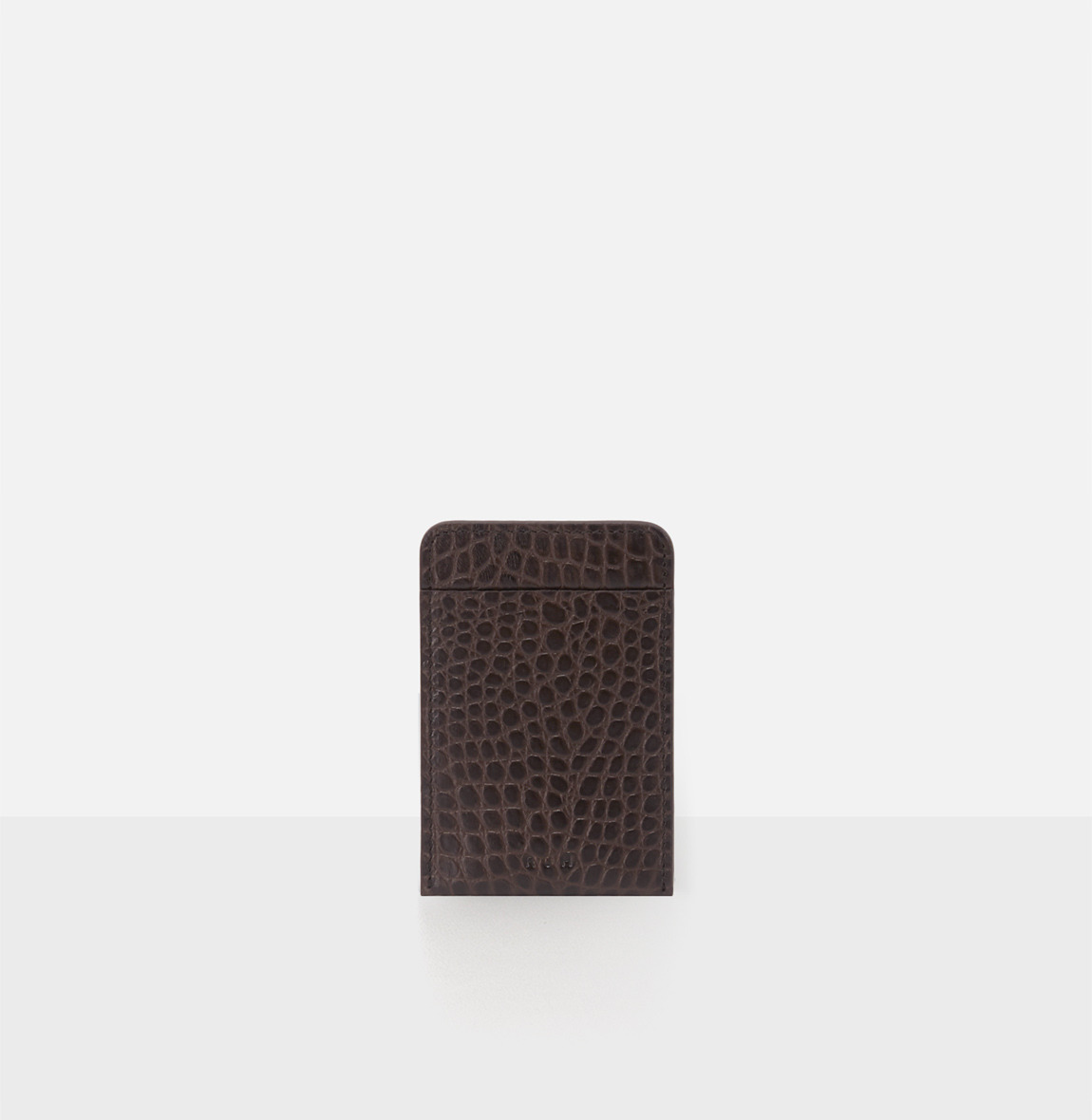 Basic card Holder Umber Crocodile pattern