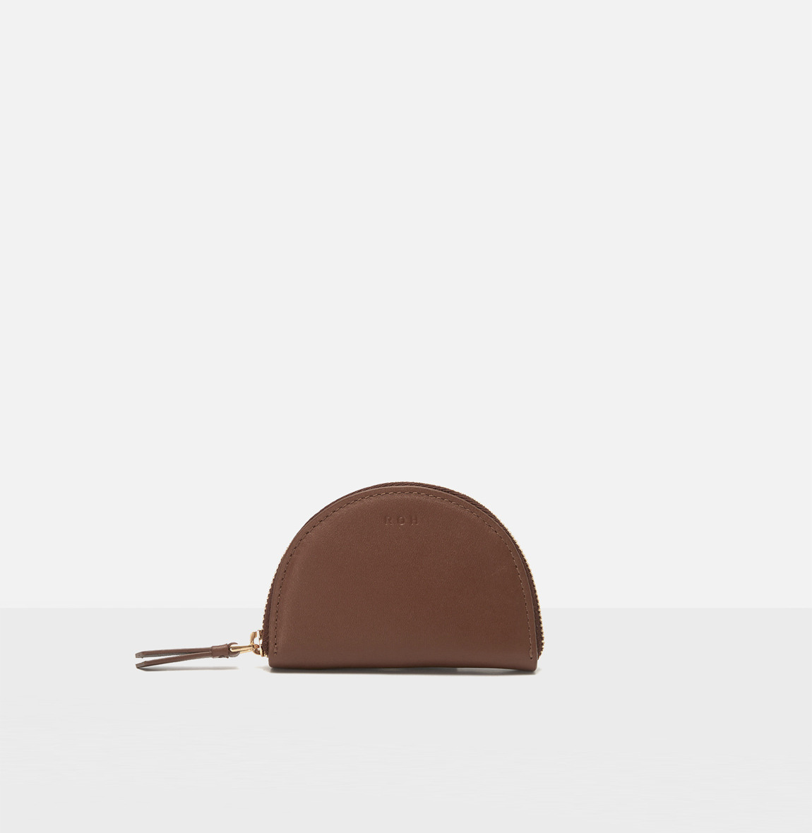 Half moon coin zip wallet Smoky Tan