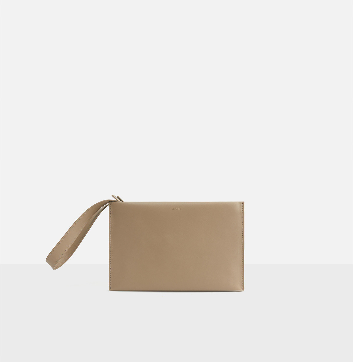 Double clutch bag Beige