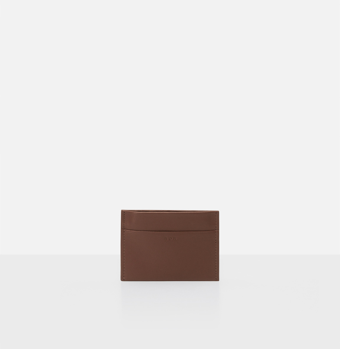 Square card wallet Smoky Tan