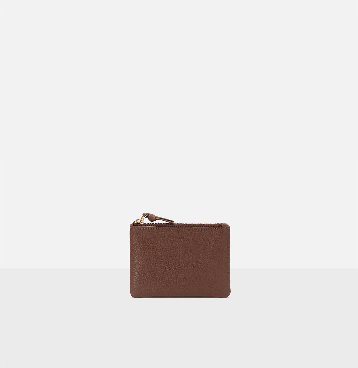 Square small zip wallet Smoky Tan Ople