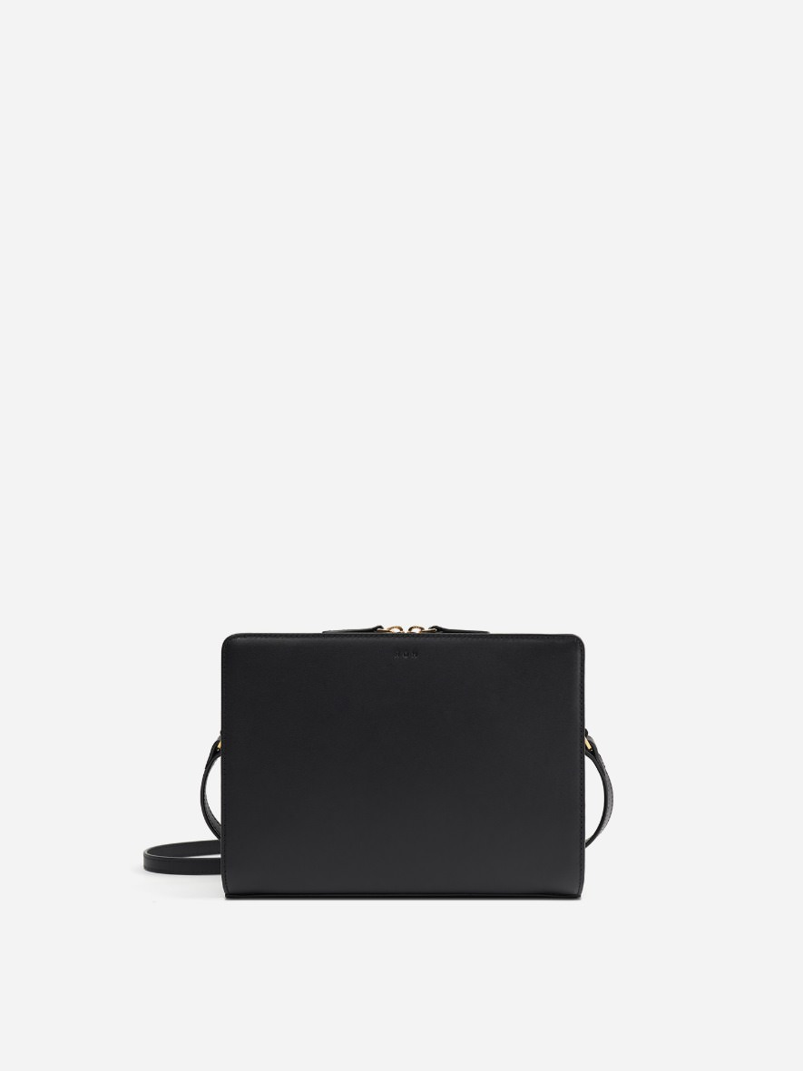 Square medium shoulder bag Black