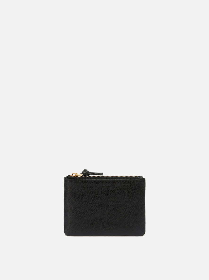 Square small zip wallet Black Ople