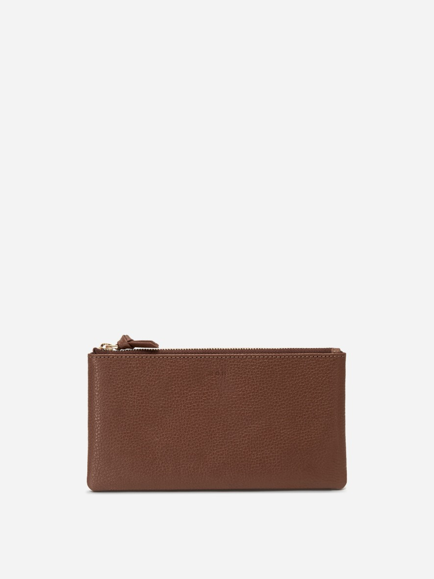 Square large zip wallet Smoky Tan Ople