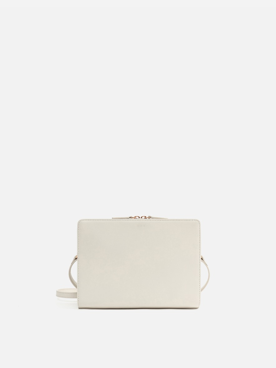 Square medium shoulder bag Ivory