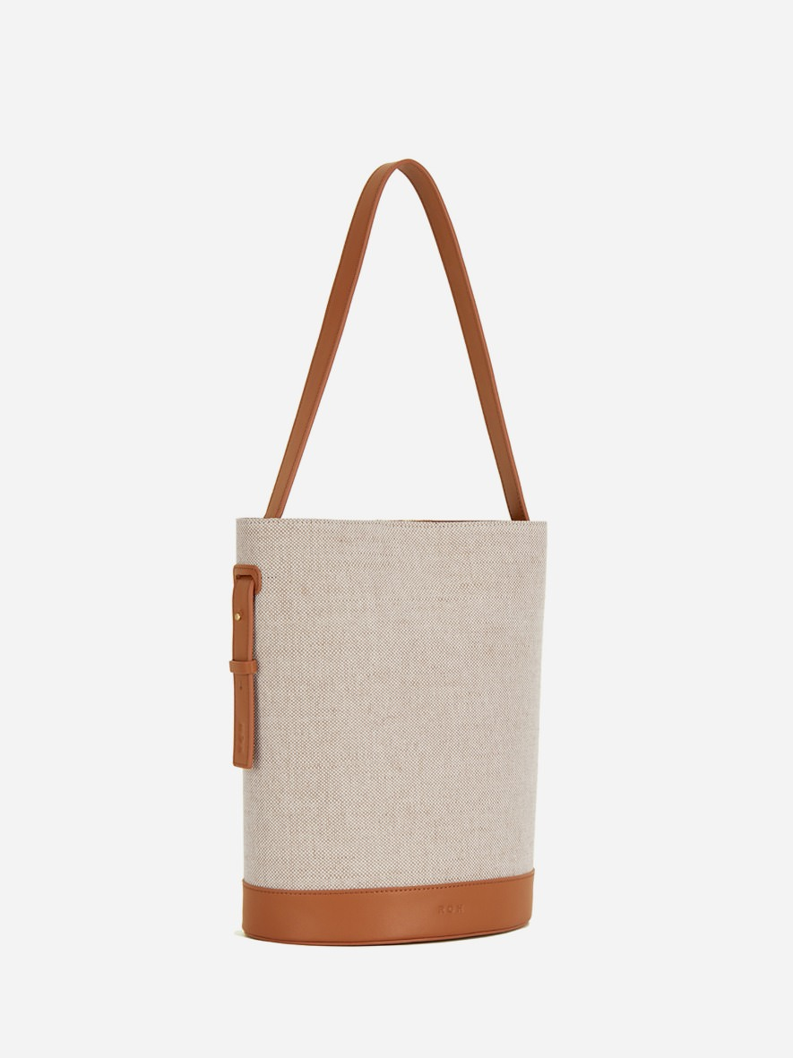 Juty fabric medium shoulder bag Creamy Tan
