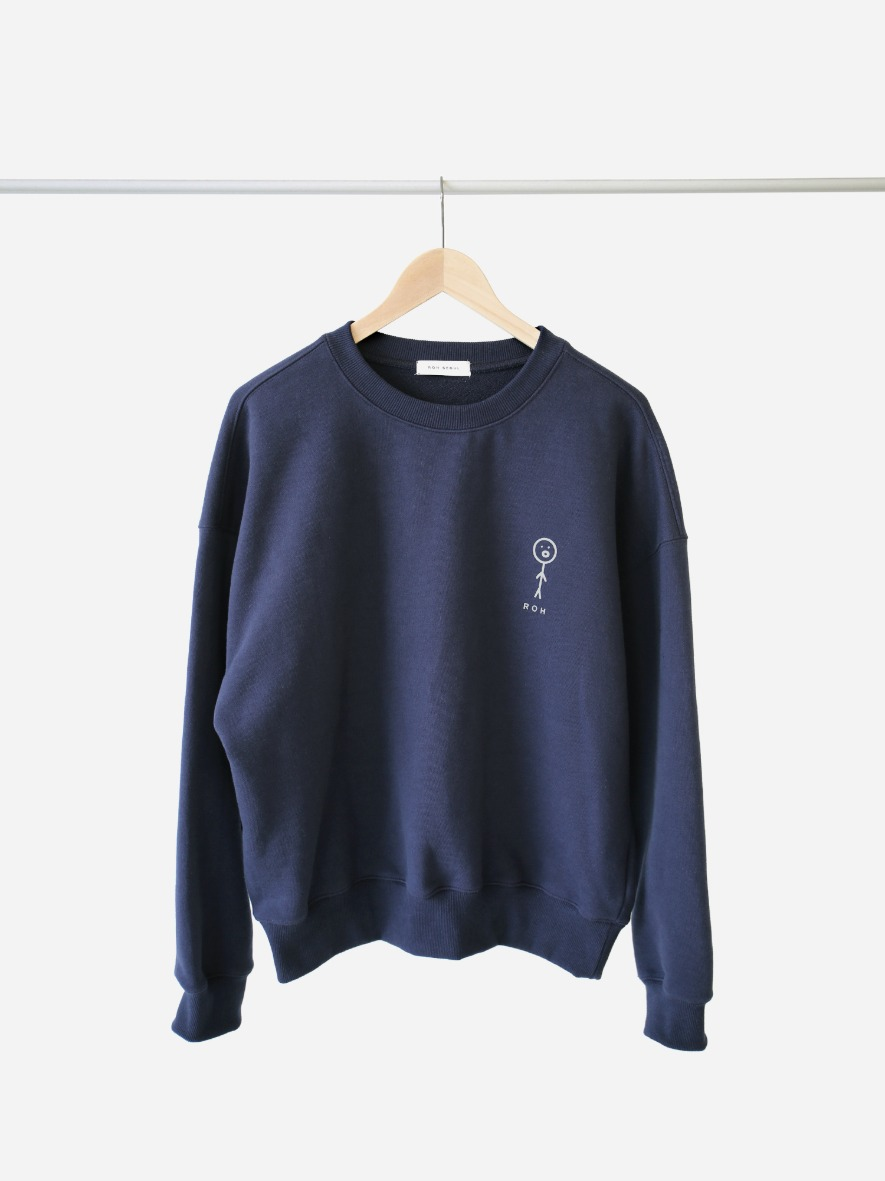 Drawing Sweatshirt with yennie Navy