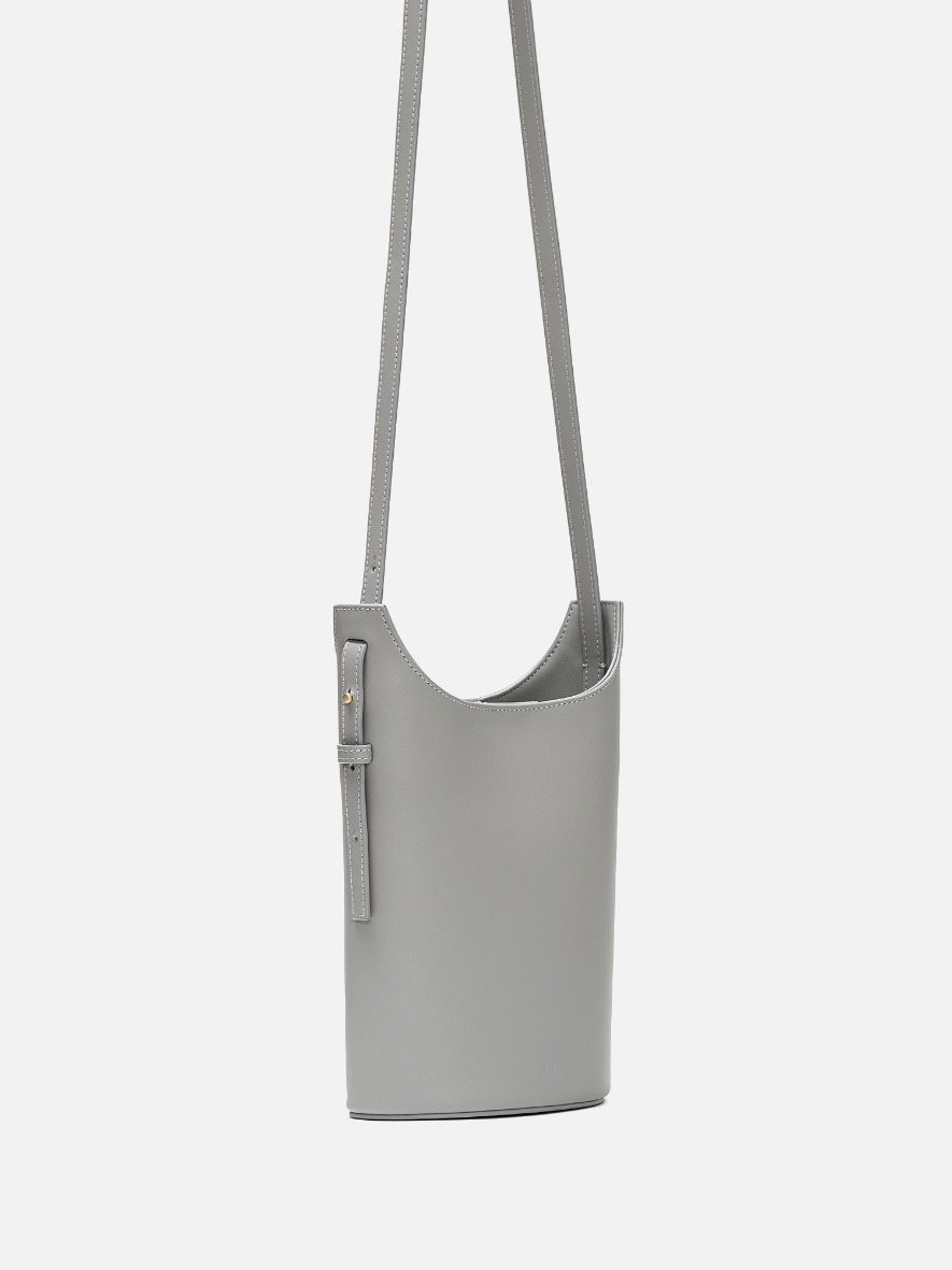 Mini juty crossbody bag Light gray
