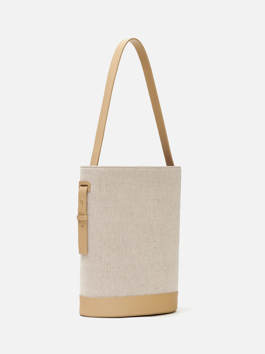Juty fabric medium shoulder bag Light ocher