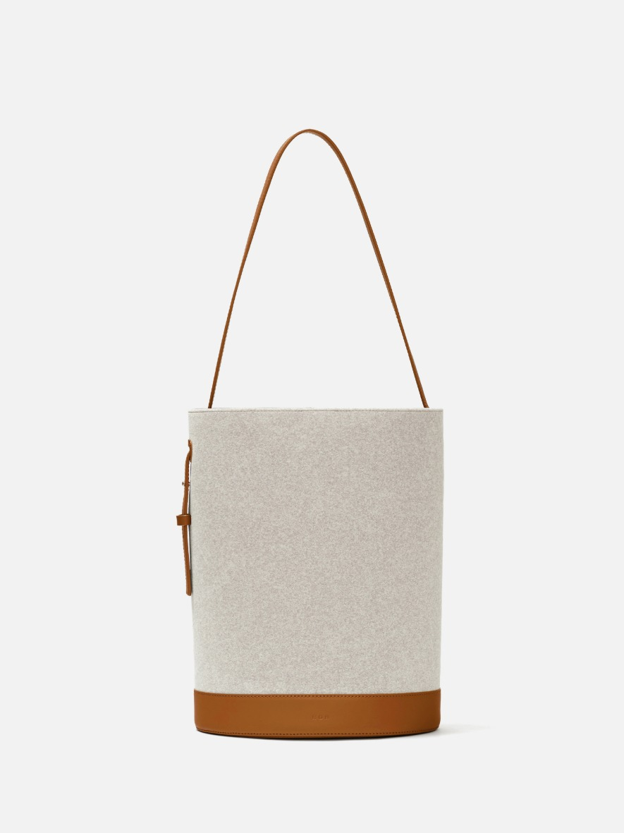 Juty medium shoulder bag Ecoclean Creamy tan