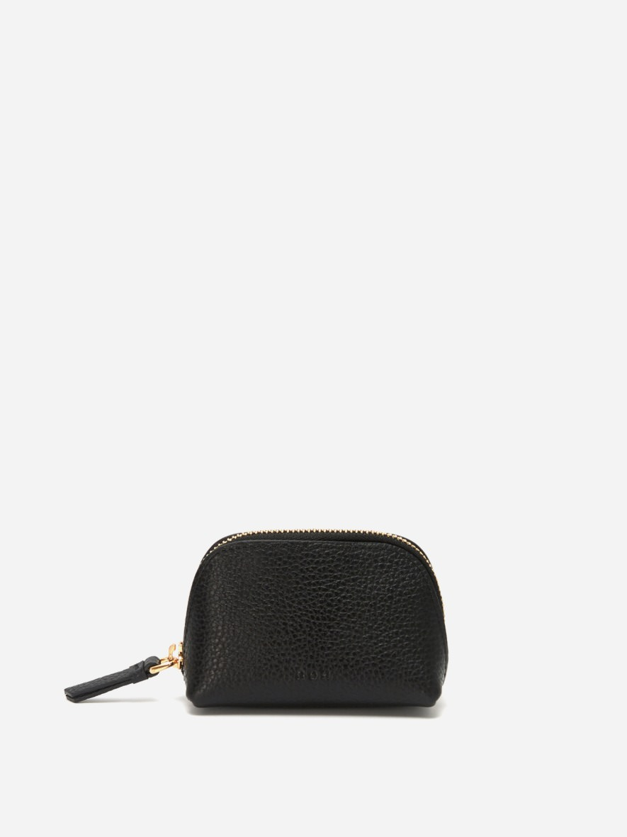 Aline small coin zip wallet Black Ople