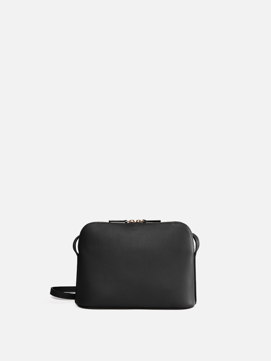 Around W medium shoulder bag Black