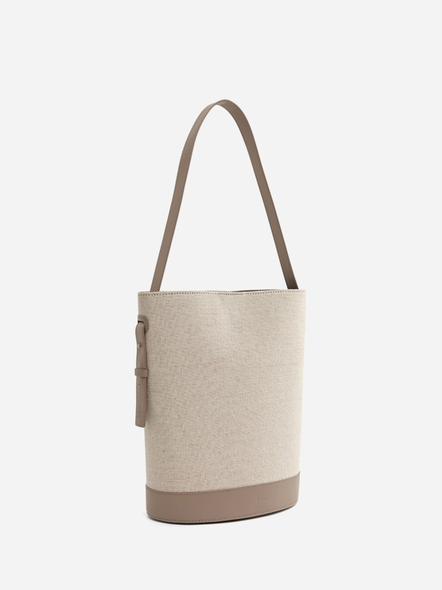 Juty fabric medium shoulder bag Beige