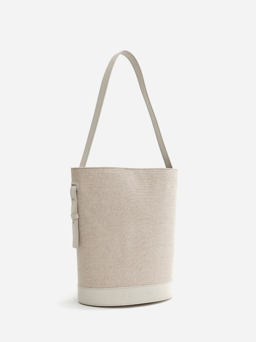 Juty fabric medium shoulder bag Ivory