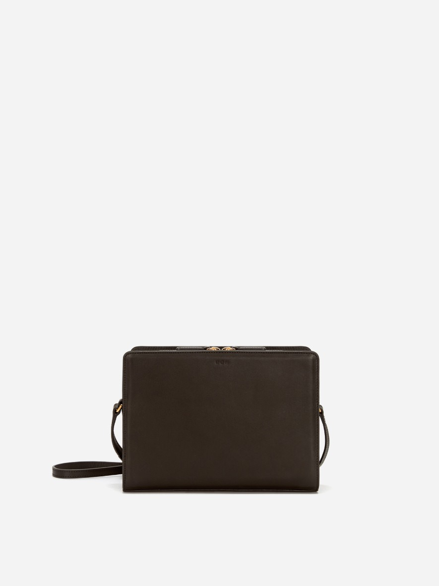 Square medium shoulder bag Umber