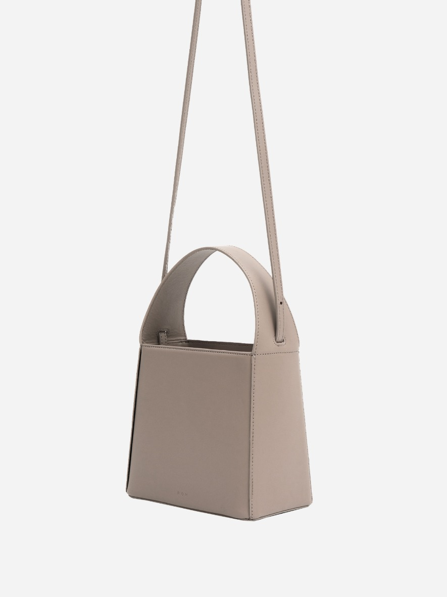 Panier leather tote bag Beige