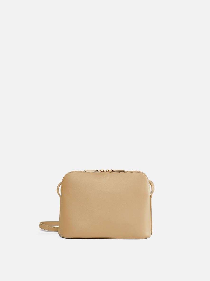 Around W medium shoulder bag Light ocher
