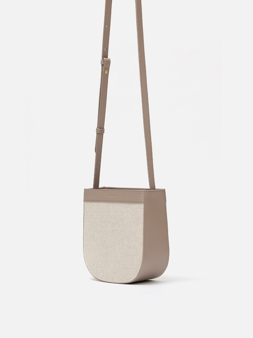 Uline fabric medium crossbody bag Beige