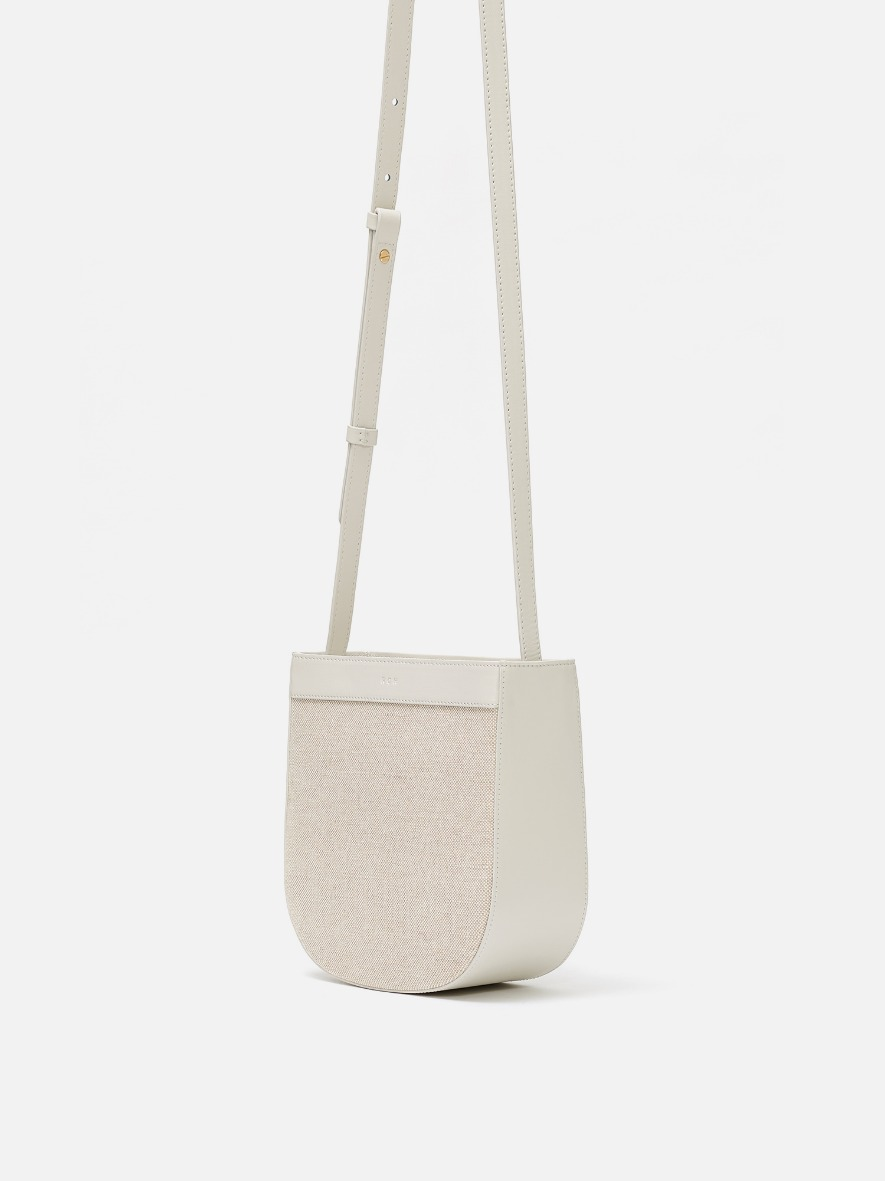 Uline fabric medium crossbody bag Ivory
