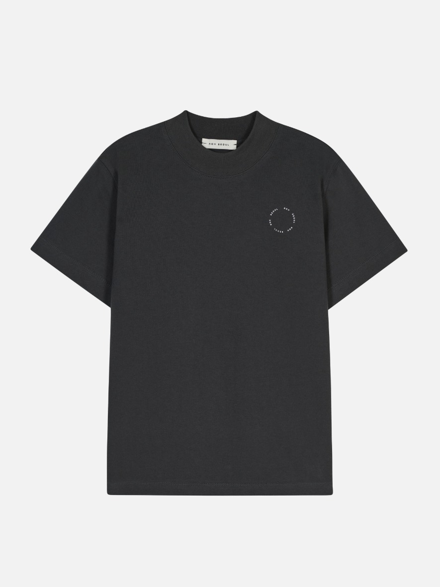 High Neck T-Shirt Gray