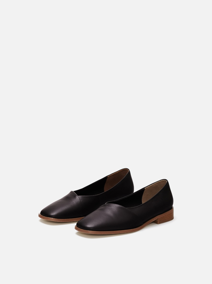 Layer flat shoes Umber